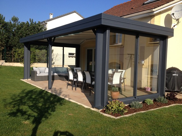 realisation de verandas. Black Bedroom Furniture Sets. Home Design Ideas