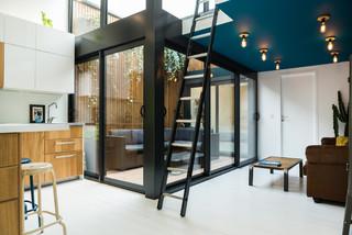 r novation d 39 un appartement 45m2 bordeaux contemporain v randa et verri re bordeaux. Black Bedroom Furniture Sets. Home Design Ideas