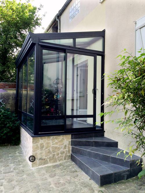 on ouvre le salon sur la cuisine. Black Bedroom Furniture Sets. Home Design Ideas
