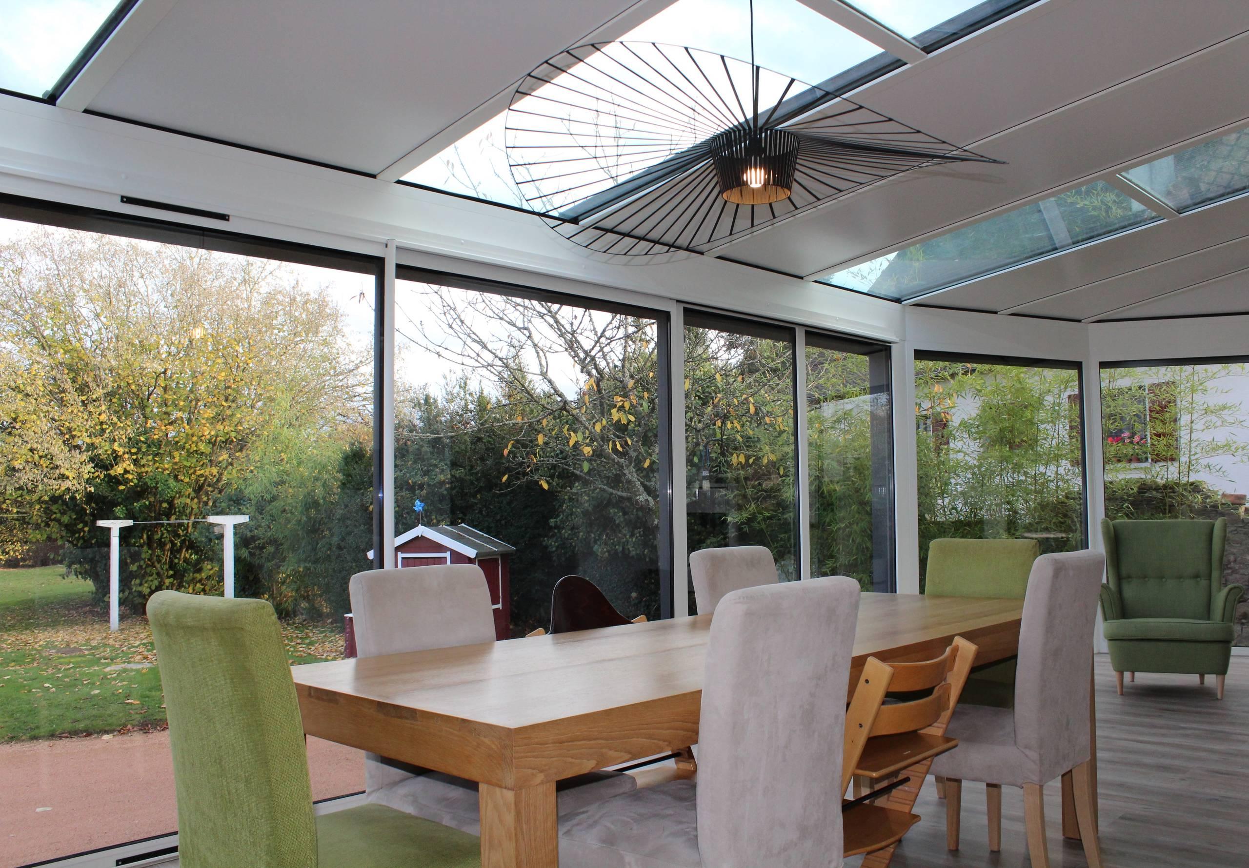 Veranda Metal Et Verre 75 beautiful gray laminate floor sunroom pictures & ideas