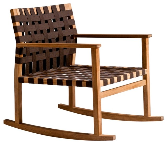 Tribu Vis A Vis Garden Rocking CHair Contemporary Outdoor Rocking Chairs