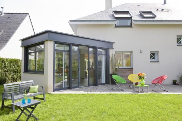 Veranda moderne v randa et verri re autres p rim tres par cocheton ha - Extension veranda moderne ...