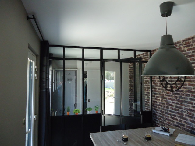 verri re cloison int rieure industrial sunroom other by ateliers fontaine. Black Bedroom Furniture Sets. Home Design Ideas