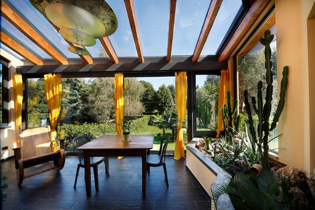 Idee per realizzare un giardino d inverno e i permessi necessari - Giardino d inverno in terrazza ...