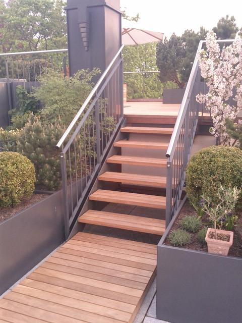 holz verandas und terrassen contemporary porch. Black Bedroom Furniture Sets. Home Design Ideas
