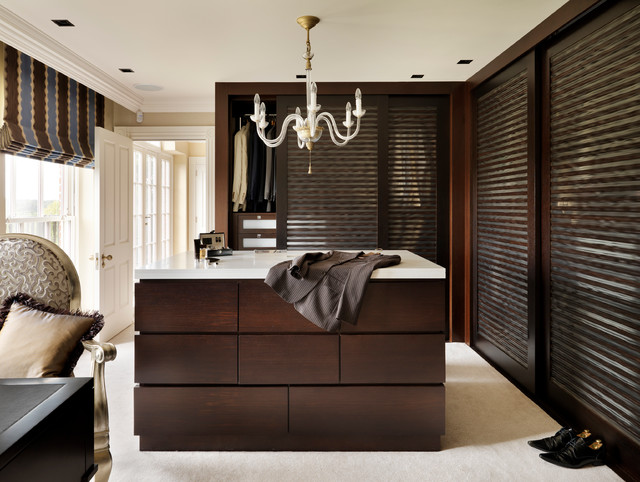 Country House Dressing Room Traditional Closet