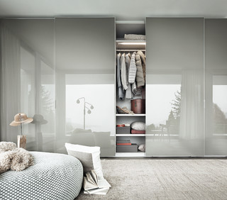 Fina Sliding Door Wardrobe Contemporary Closet Buckinghamshire By Iq Furniture
