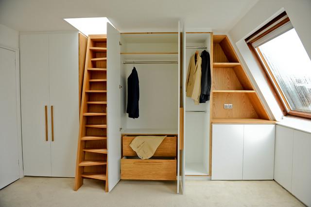 Kentish Town contemporary-closet