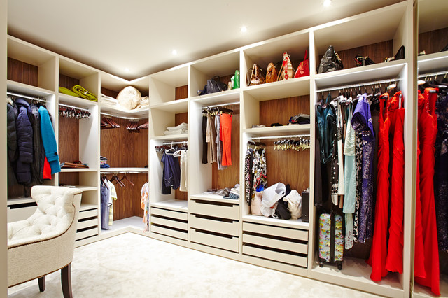 Mayfield House, London contemporary-wardrobe