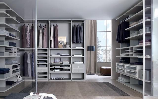 Walk In Wardrobe millimetrica - walk-in-wardrobes - contemporary - closet - dorset