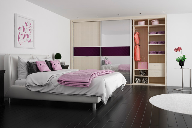 Mirrored Bedroom Sliding Wardrobes traditional-wardrobes-and-armoires