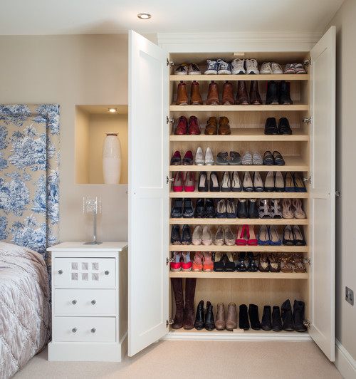Elegant I Love This Idea For Being Straightforward And Doing The Job So Reliably  Well. A Large Linen Closet Or Wardrobe Has Been Overhauled Into A Huge Shoe  Storage ...