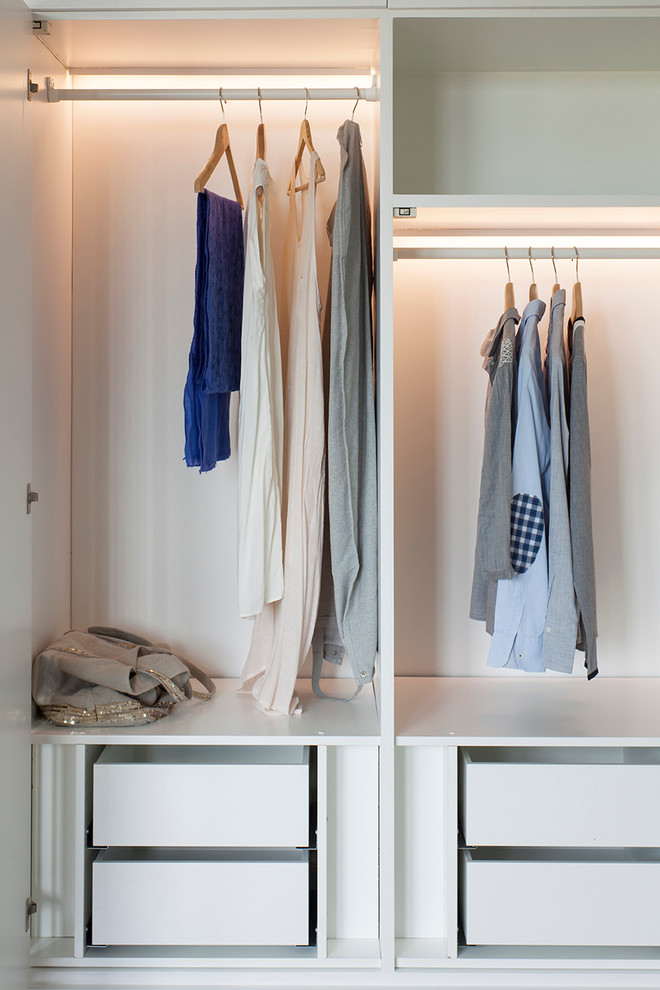 Inspiration for a timeless closet remodel in London