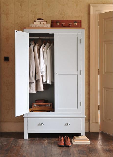 buy popular 6834c 882ab Portland Grey Gents Wardrobe 2 Door - Country - Wardrobe ...