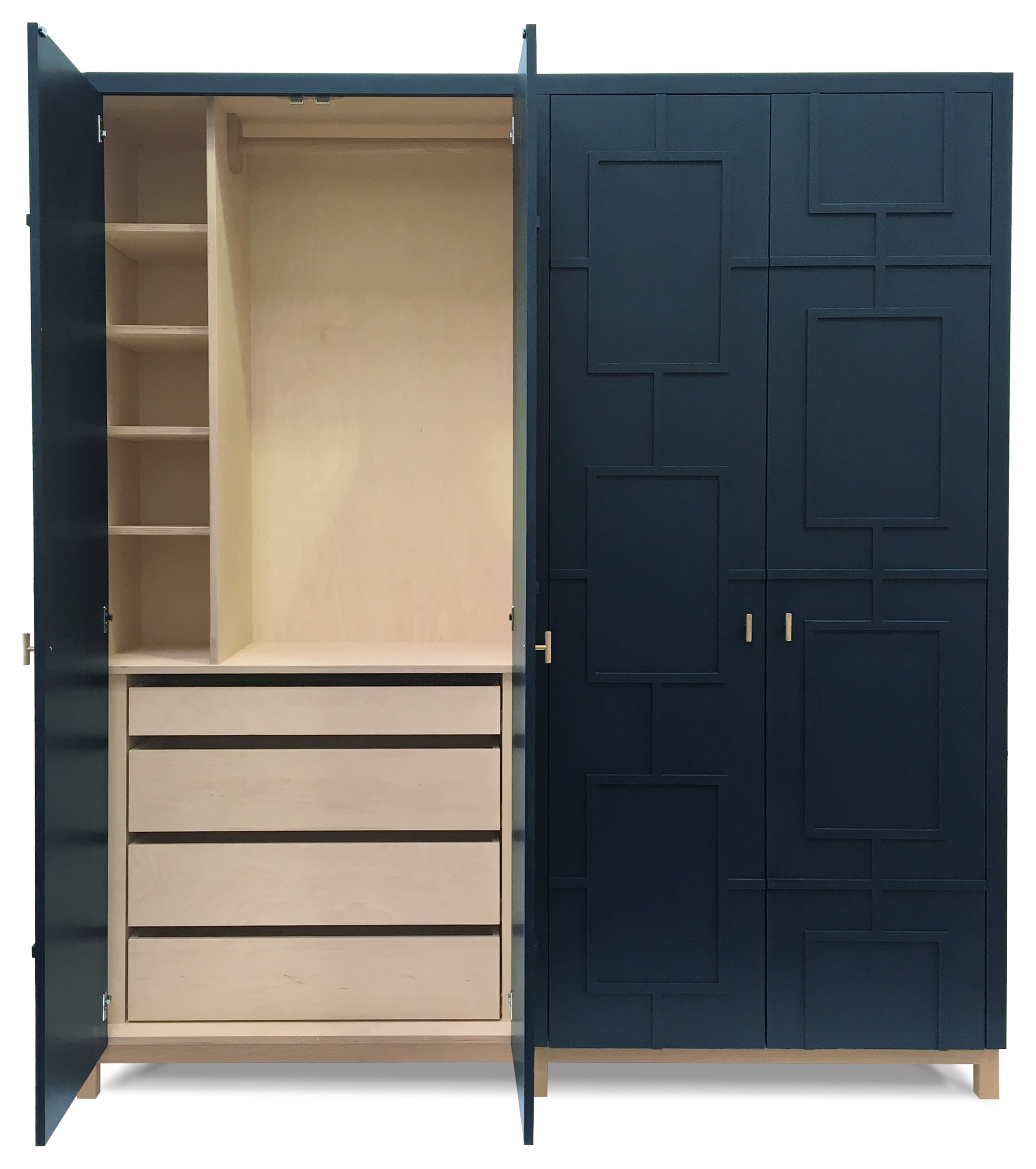 Tete De Lit Alcove 75 beautiful contemporary closet with beaded inset cabinets