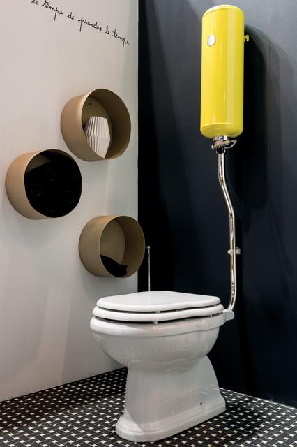 ambiance jaune pop r tro toilettes saint tienne. Black Bedroom Furniture Sets. Home Design Ideas