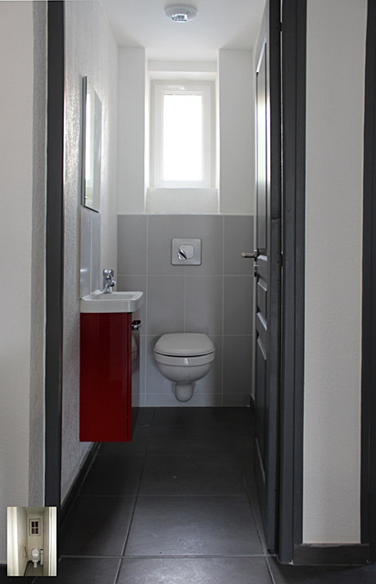 Am nagement de toilettes moderne toilettes montpellier par jbelmonte for Amenagement toilette