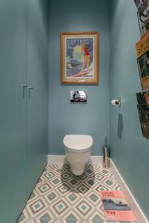 Décoration de mur de toilette : Photos et idées déco