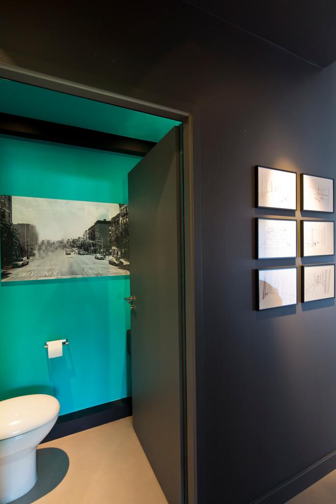 Пример оригинального дизайна: туалет в современном стиле