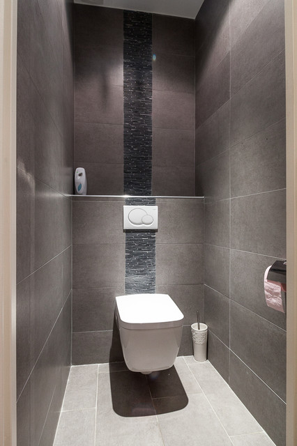 Appartements moderne toilettes paris par for Salle de bain moderne houzz