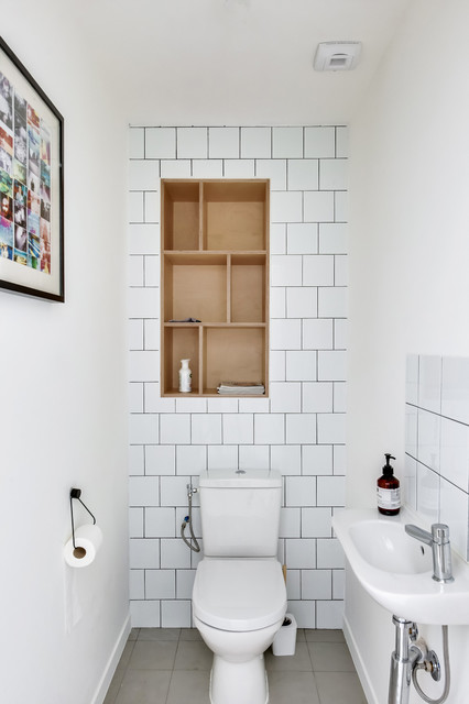 Photographie pour Transition Interior Design - Romainville contemporary-powder-room & Photographie pour Transition Interior Design - Romainville ...