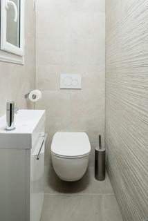 Photos et idées déco de WC et toilettes avec un carrelage beige
