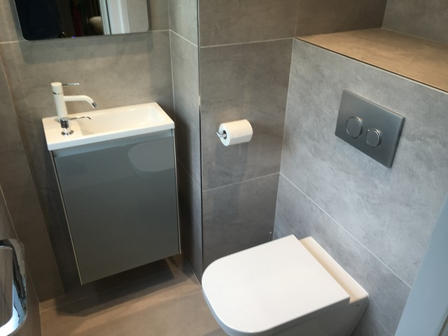 Rénovation suite parentale - Modern - Powder Room - Grenoble - by ...