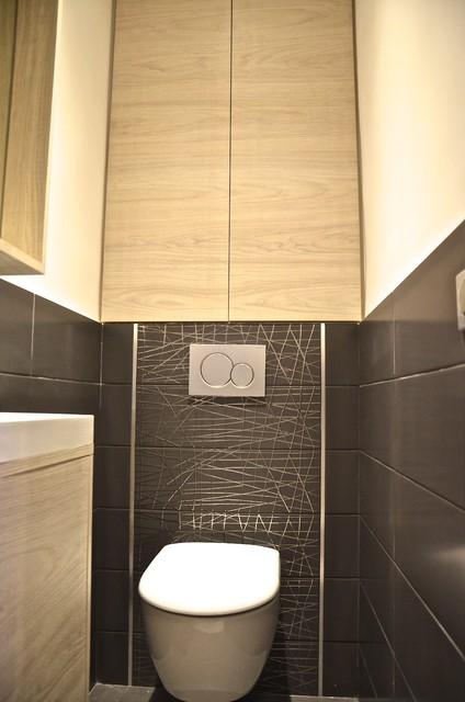 Salle de bain modern powder room - Deco wc modern ...