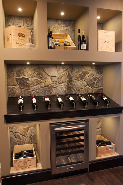 11 Hawk's Landing, Priddis, AB contemporary-wine-cellar