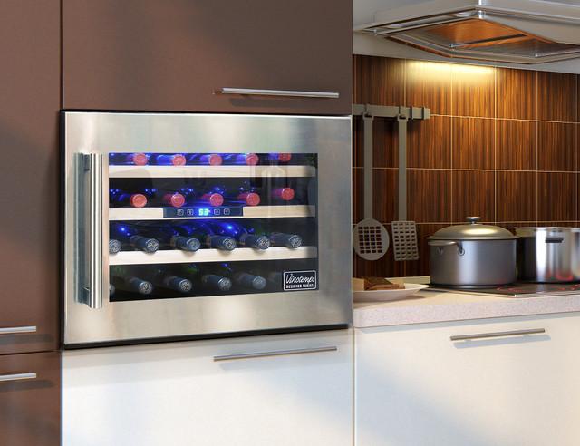 ... Seamless Wall-Mounted Wine Cooler - Modern - Wine Cellar - by Vinotemp