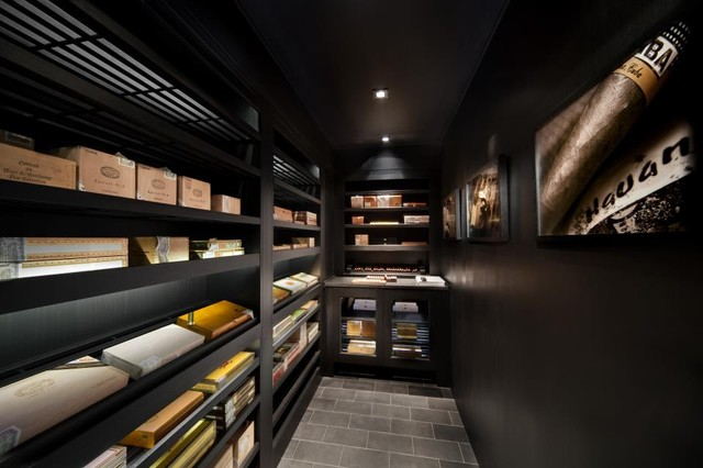 25,000 cigar walk-in humidor - Modern - Wine Cellar - New York - by Signature Wine Cellars
