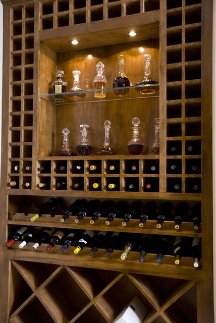 9 Creekside traditional wine cellar