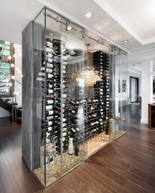 Modern Wine Cellar Ottawa A Passion for Wine contemporary-wine-cellar