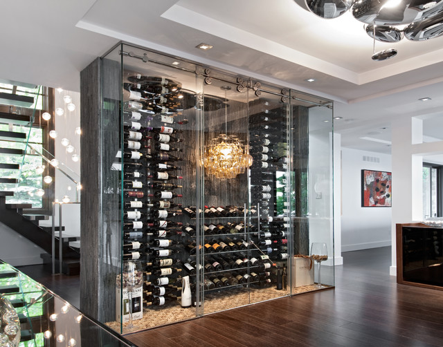 A Passion For Wine Contemporary Wine Cellar Ottawa