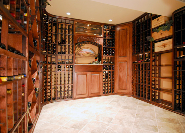 A Touch of Wine Country traditional-wine-cellar