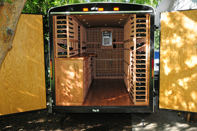 After - Trailer turned into a Wine Cellar