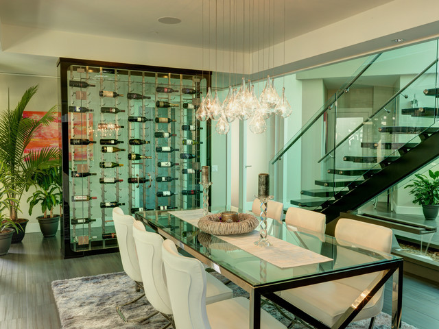 All Glass Wine Cellar - Modern - Wine Cellar - other metro - by Blue ...