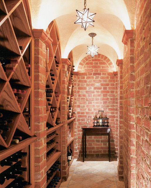 American brick georgian traditional wine cellar new for Traditional american architecture