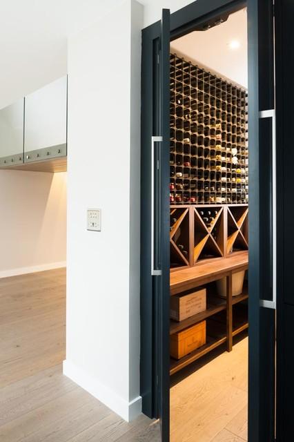 An integrated walk in larder and wine storage cupboard for Walk in wine cellars