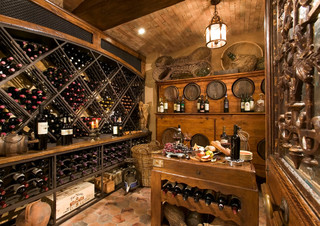 Anaheim Hills Tuscan Villa - Mediterranean - Wine Cellar - Orange County - by Brion Jeannette ...