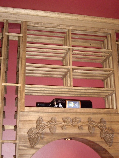 Another Look at the Hand-Carved Grapevine Wine Cellar Design New Orleans traditional-wine-cellar