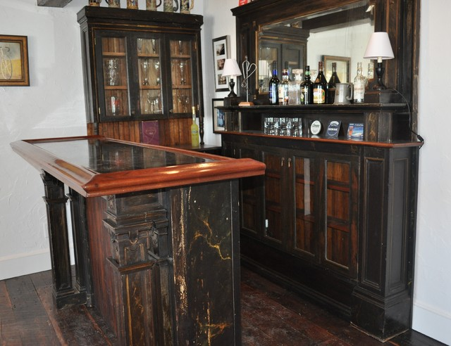 Antique Wood Bar York Me Traditional Wine Cellar