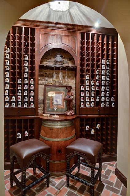 Atlanta Basement Design/Build Traditional Wine Cellar