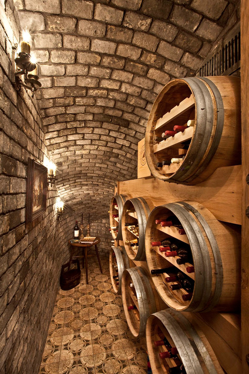 Mediterranean Wine Cellar By Placentia Interior Designers U0026 Decorators  Palmer Interior Design