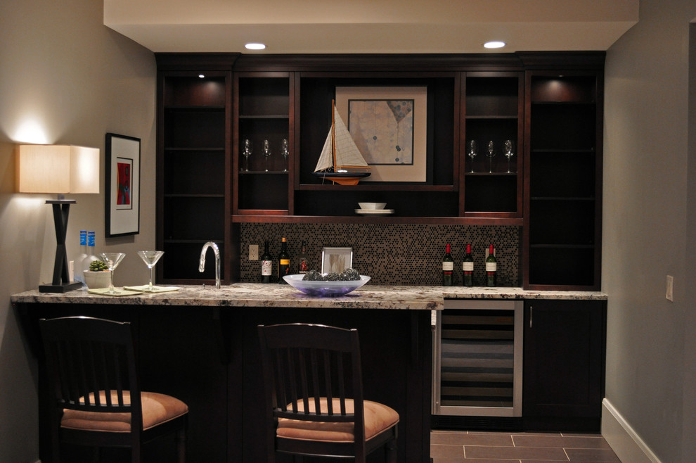 Inspiration for a modern wine cellar remodel in Calgary