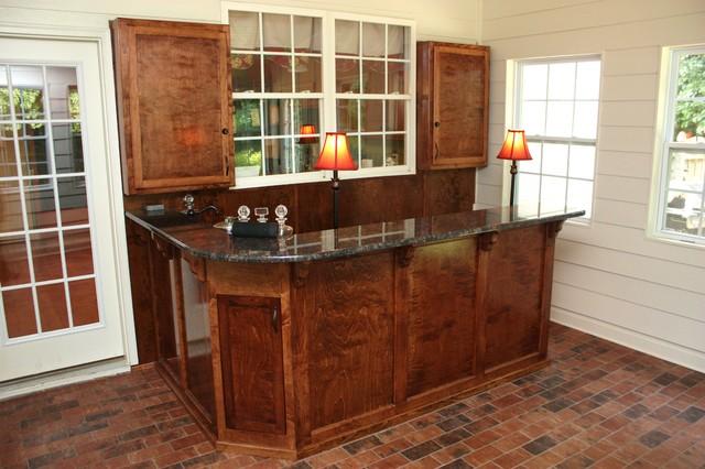 Attirant Bar With Granite Counter Top  Medium Size Traditional Wine Cellar