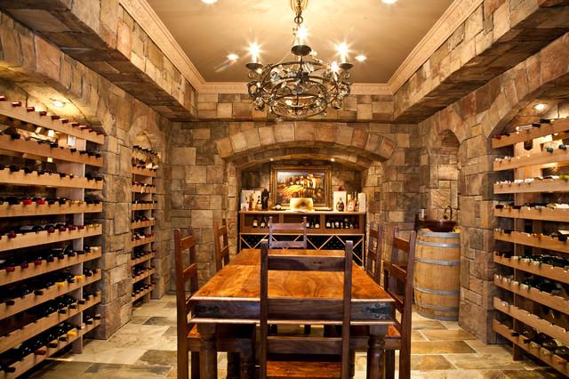 Barclay Fieldstone Estates Grand Villa Mediterranean Wine Cellar Toronto By Fourteen
