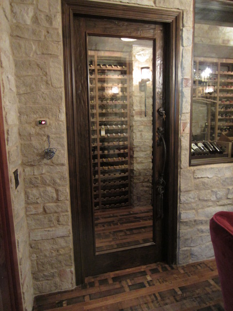 Barolo Glass Custom Wine Cellar Door With Heavy Distressing traditional-wine -cellar & Barolo Glass Custom Wine Cellar Door With Heavy Distressing ...