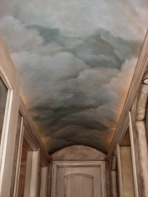 barrel ceiling sky mediterranean hall