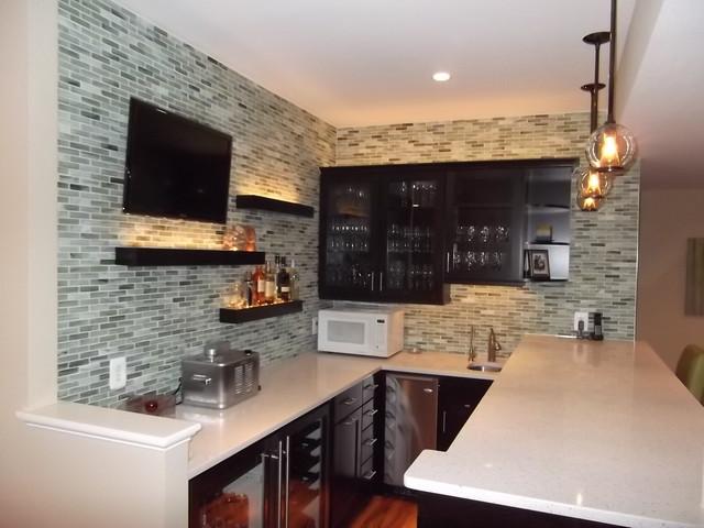 small kitchen decorating ideas photos - Basement Bar 1 Modern Wine Cellar dc metro by